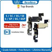 LEOLEO USB 충전 포트 독 커넥터 iPhone 4G 4S 5G 5S 5C SE 6G 6 Plus 6S mirphone 헤드폰 오디오 잭 용 플렉스 케이블