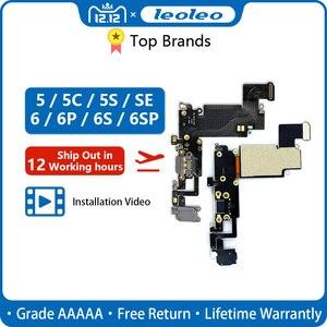Image 1 - LEOLEO USB зарядный порт док станция для зарядки с гибким кабелем для iPhone 4G 4S 5G 5S 5C SE 6G 6 plus 6S Mircophone с аудиоразъемом и наушниками
