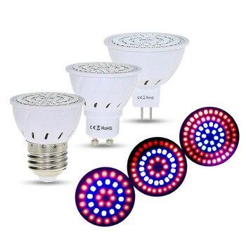 36/54/72 Led de espectro completo bombilla Led de crecimiento 220V E27 MR16 GU10 UV IR Spot lámpara de crecimiento ligero bombillas Led para plantas de invernadero de semillas Vegs lámpara de acuario Fito