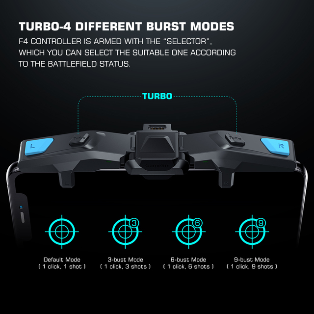 GameSir F4 Falcon PUBG Trigger Mobile Gamepad Controller Fast Game Joystick Foldable Wings for Android iPhone No Bluetooth