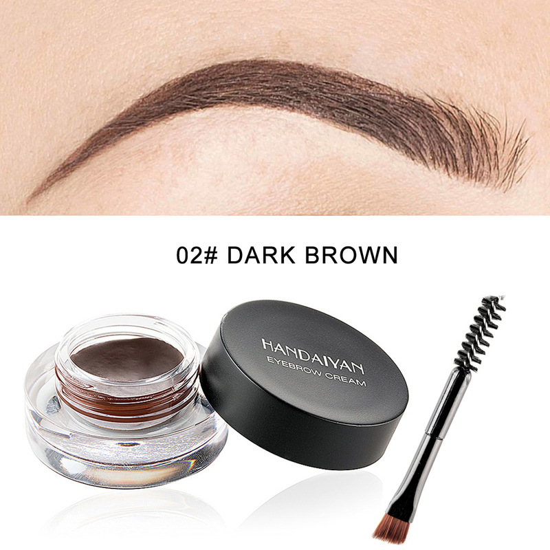 Super Waterproof Eyebrow Cream Sweat-proof Eye Brow Gel Brown High Pigmented Makeup Cejas Postizas