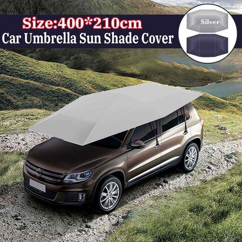 4X2.1M paraguas de coche cubierta tipo parasol plegable impermeable Paraguas automático de coche parasol de coche UV cubierta de techo sin soporte