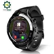 MOKA 4G akıllı saat erkekler 400*400 AMOLED ekran Android 7.1 MTK6739 5MP çift kamera GPS WiFi ios için akıllı saat