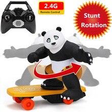 Электронный скутер каскадера игрушка автоматический флип-чехол со звуком флэш светильник 360 градусов вращение с дизайном панды скейтборд ...