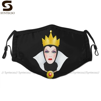 Queen Mouth Face Mask Evil Facial Funny Fashion with 2 Filters for Adult