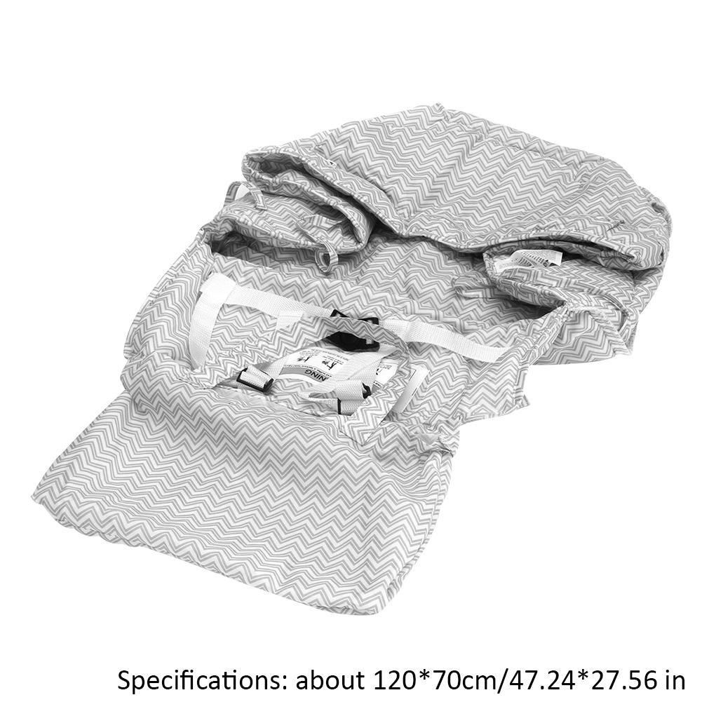 2 в 1 детская корзина чехол для детского сидения Защитная крышка Тележка Мягкий Коврик для младенцев обеденный стул подушки сиденья с ремнем безопасности