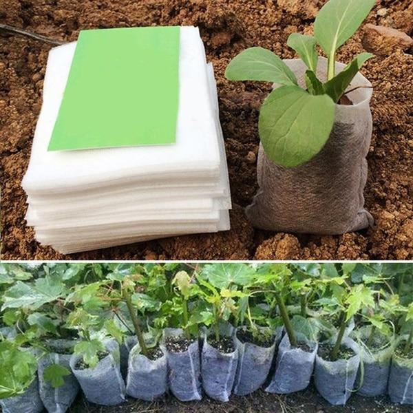 100 шт саженцы мешки для питомника органические биоразлагаемые мешки для выращивания ткани экологически чистые вентилируемые мешки для выращивания растений|Тканевые горшки для рассады|   | АлиЭкспресс