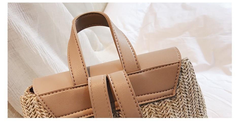 H2eb1357e1cbc4e0a85d52cfa00cbba83Y Herald Fashion Straw Woven Backpack Women Back Pack Autumn Teenage Girl Quality Backpacks Travel Bags Kawaii Rucksack Drop Ship
