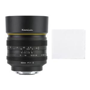 Image 5 - Kamlan 50mm f1.1II büyük diyafram manuel odak APS C aynasız lens CanonM Sony E Fuji M43 montaj kamera