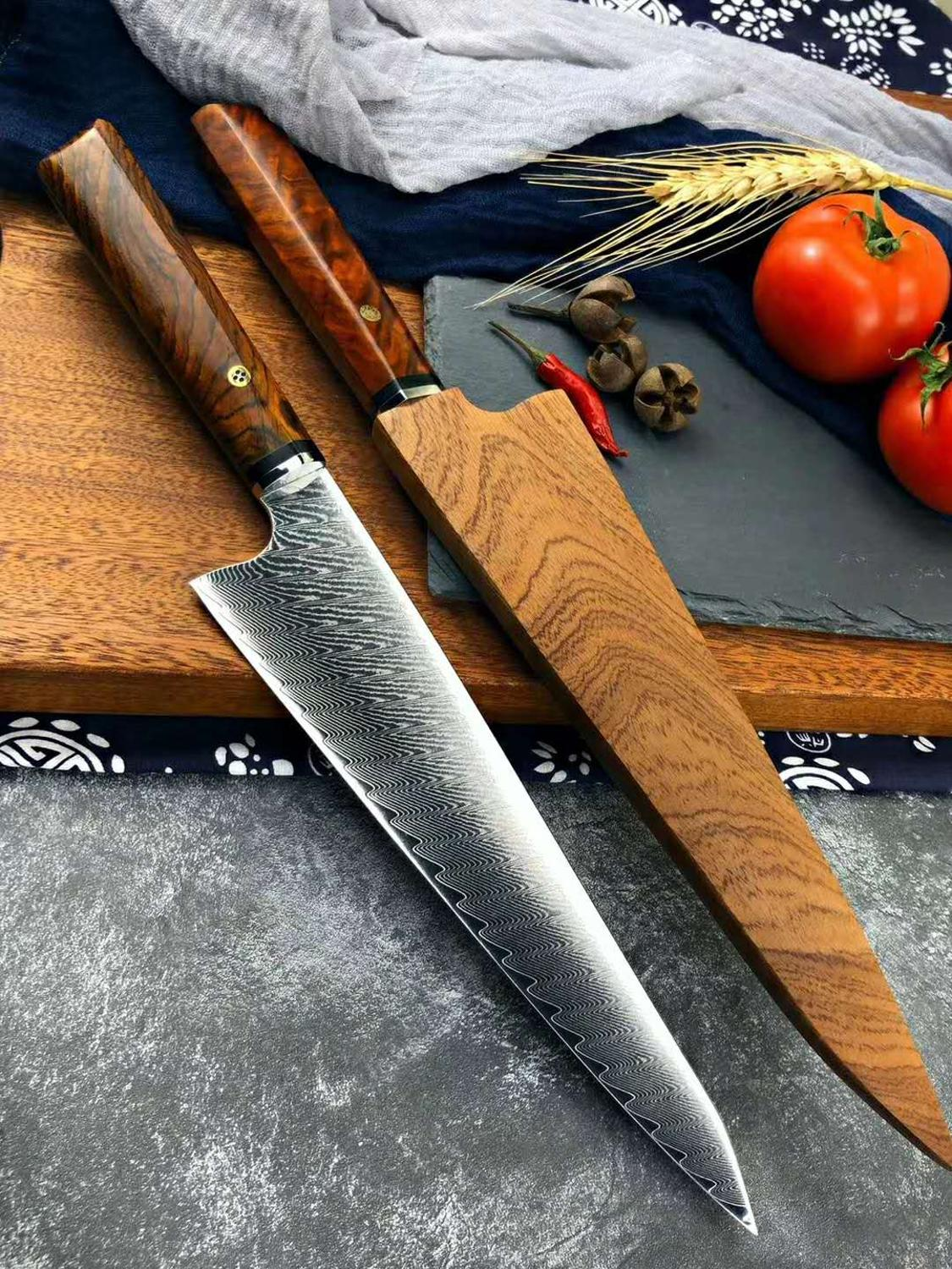 damascus chef knife vg10 damascus steel kichen knife tool japanese knife sharp cleaver knife Cooking knife set 2