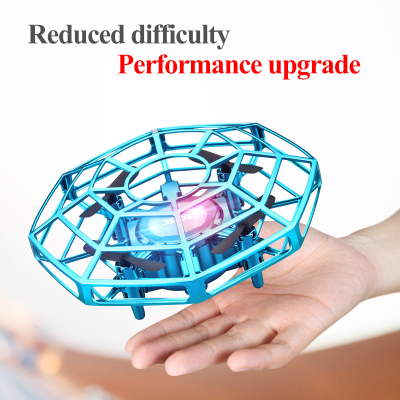 Mini Drone UFO Toys Infrared Sensing Control Hand Flying Aircraft Quadcopter Infraed RC Helicopter  Kid Toy 1