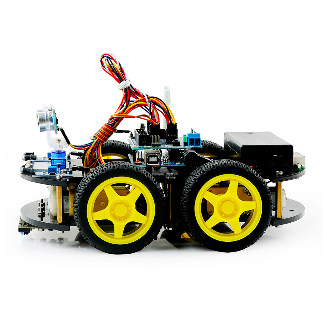 DIY Obstacle Avoidance Smart Programmable Toys Robot Car Educational Learning Kit For Arduino UNO / BLE UNO Kids Gift New