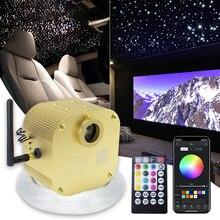 16W Twinkle Fiber Optic Starry Ceiling lighting kits Bluetooth APP Smart Music Control for Car roof star kid Room Ceiling Light