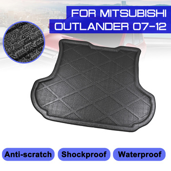 For Mitsubishi Outlander 2007-2012 Car Rear Trunk Boot Mat Waterproof Floor Mats Carpet Anti Mud Tray Cargo Liner image