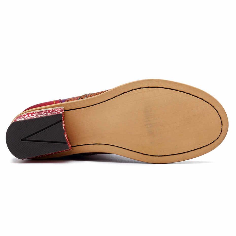 Echtes Leder Winter Stiefel Für Mädchen Botas Mujer Vintage Casual Lace-up Zipper Cowboy Knöchel Westlichen Stiefel Frauen Schuhe frau
