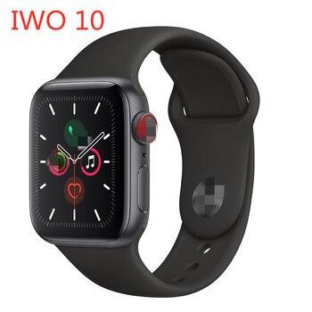 Reloj inteligente F10 resistente al agua, para hombre y mujer, monitor de ritmo cardíaco activo de 1,54 pulgadas, podómetro para IOS Android iwo 10
