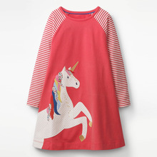 School Dress for Girls Clothing 2019 Fall Winter Toddler Cartoon Long Sleeve Cartoon Baby Girl Dress 1 2 3 4 5 6 Year все цены