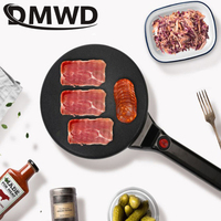 DMWD 110V Electric Crepe Maker Household Pizza Baking Pan Machine Pancake Pie Cooker Cake Griddle Cooking Spring Roll Grill US