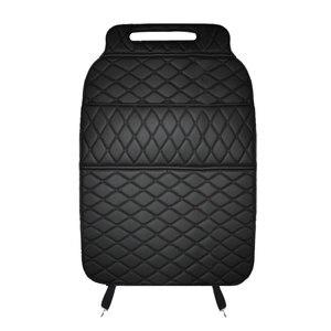 Image 5 - רכב מושב אחסון תיק PU שחור מיקרופייבר עור רכב מושב נגד בעיטת pad אוניברסלי רכב פנים עבור טויוטה KIA לאדה פורד יונדאי