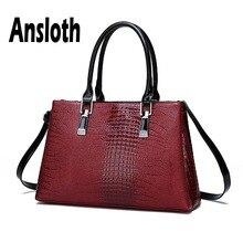 Ansloth sac à main à motif Crocodile pour femmes, fourre tout de luxe en cuir PU, sac à épaule grande capacité à poignée supérieure, HPS640