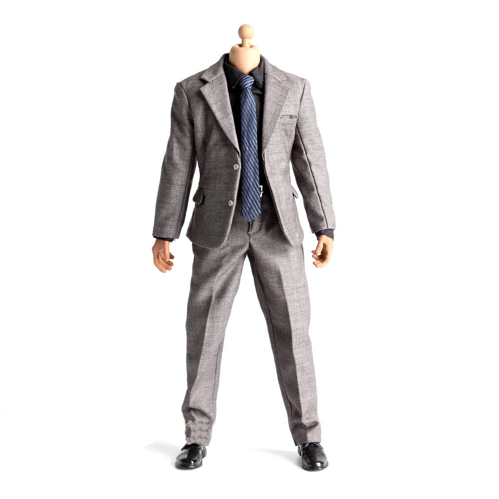 1:6 Male Action Figure Clothes Suit for Hot Toys Enterbay Phicen Shirt Pants Tie