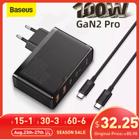 Caricabatterie Baseus GaN 100W PD QC 4.0 3.0 caricatore rapido USB tipo C caricabatterie rapido USB C per iPhone 12 Pro Max Macbook