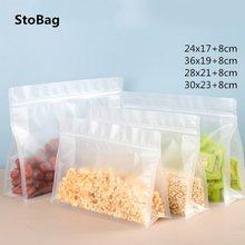 Stobag 50 шт матовые ziplock пластиковые пакеты для хранения