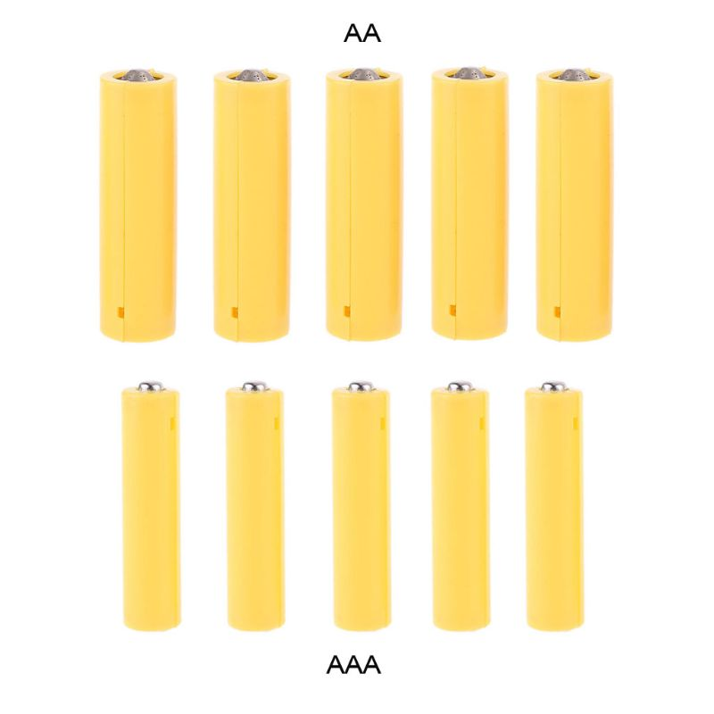 1 Set(5pcs) AA AAA Size Dummy Fake Battery Setup Shell Placeholder Cylinder Conductor