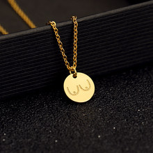 Stainless Steel Rose Gold Disc Charms Hot girl Boobs Necklaces For Women Body Shape Funny Jewelry Best Friend Collier Femme BFF(China)