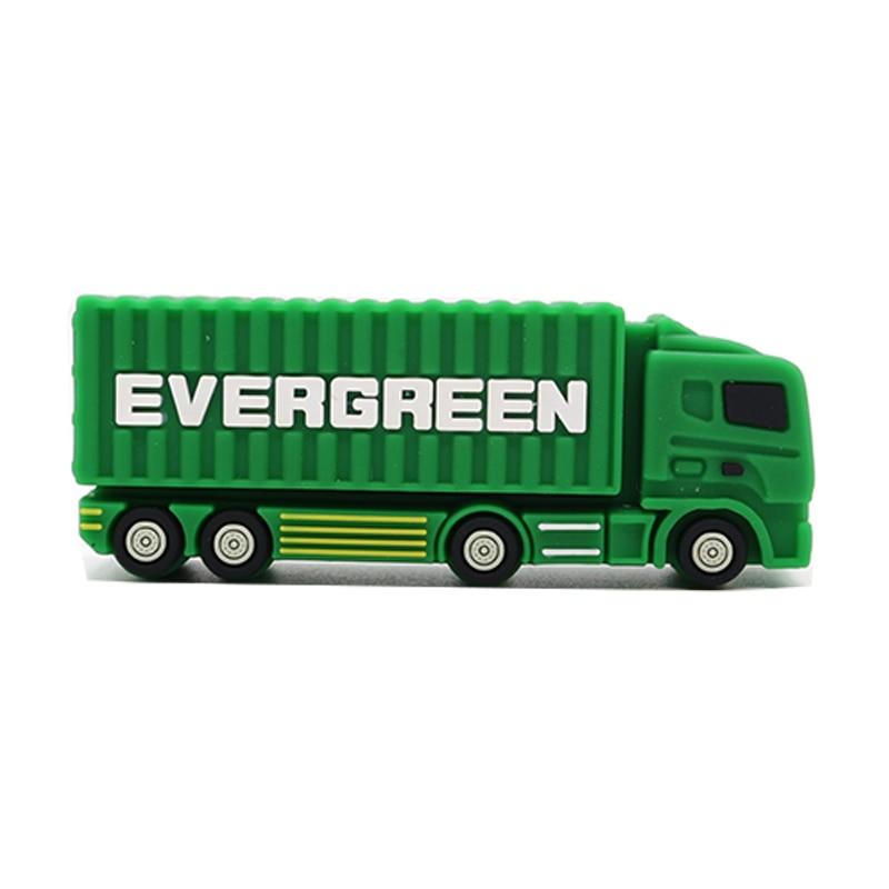Pen-Drive Usb Cartoon Gift Usb-Stick 4GB 8GB 16GB 32GB 64GB Fire-Truck Creative High-Quality