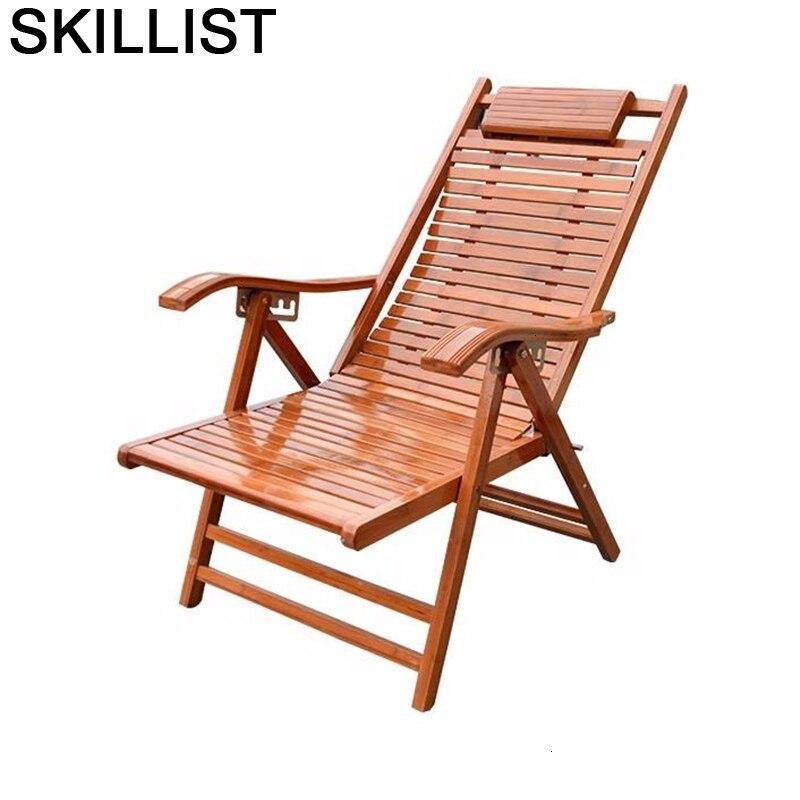 Dormir Butacas Y Modern Armchair Sillones Moderno Para Sala Fauteuil Salon Bamboo Folding Bed Sillon Reclinable Recliner Chair