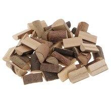 Blocs de tranches de bûches en bois inachevé, demi-coupe pour l'artisanat de bricolage