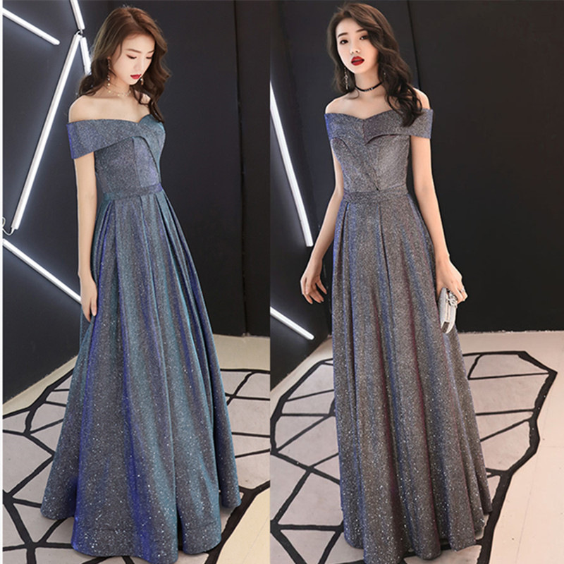 Star Evening Dress Women's 2019 New Style Banquet Nobility Elegant Slimming-Elegant Debutante Annual General Meeting Long Skirts