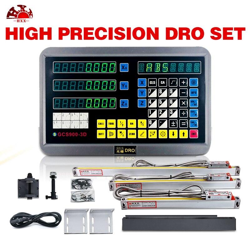 Инструменты уровня dro цифровой индикации экрана 3 оси GCS900 3D с 3 шт 5u линейные стеклянные весы для всех машин Бесплатная доставка