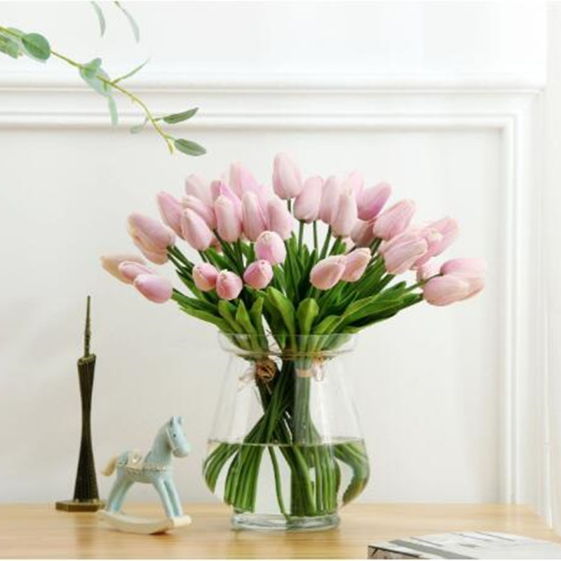 1PC PU Mini Tulips Artificial Flowers For Home And Wedding Decoration Flowers 56