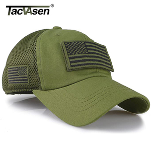 Image 2 - TACVASEN Taktische Camouflage Baseball Caps Männer Sommer Mesh Military Armee Caps Gebaut Trucker Cap Hüte Mit USA Flagge Patches
