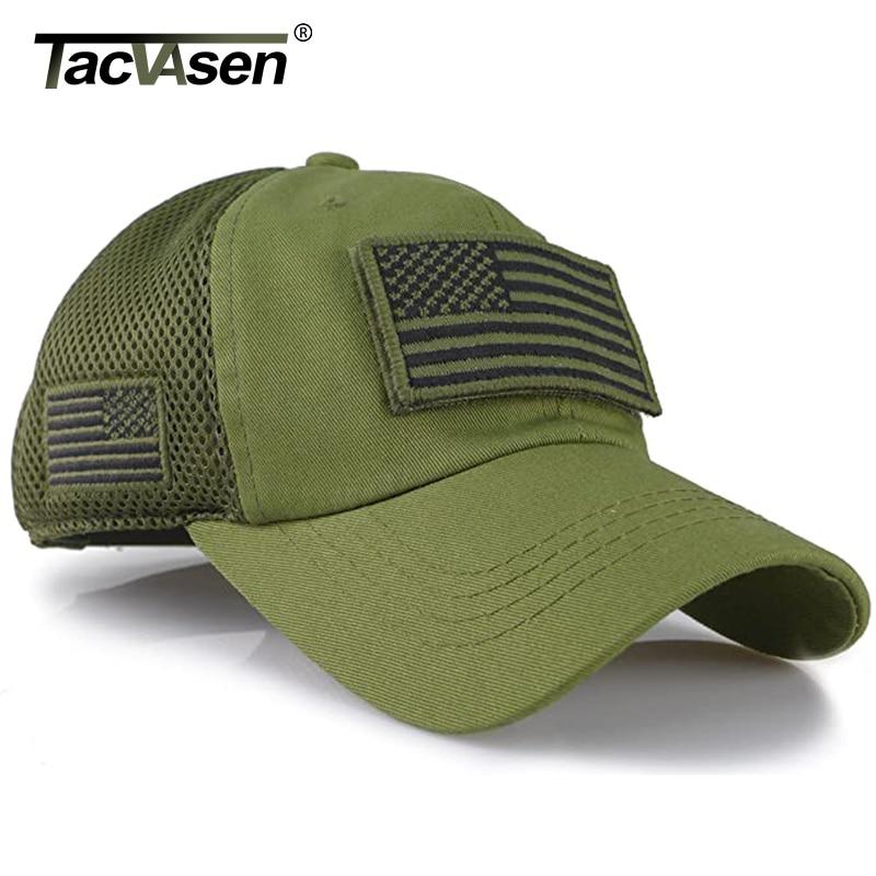Image 2 - Tacvasen camuflagem tático bonés de beisebol dos homens verão malha militar do exército bonés construídos boné de camionista chapéus com eua remendos da bandeiraBonés de beisebol   -
