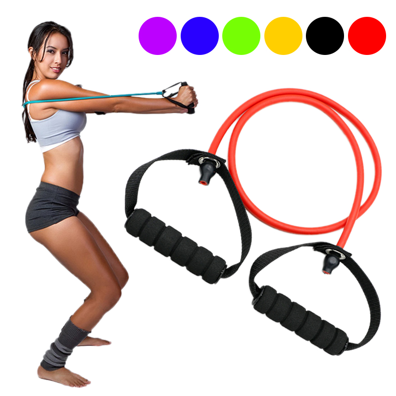 Fitness Resistance Band Exercise Elastic Band Yoga Pilates Expander Pull Rope Tube For Physical Therapy Strength Training Muscle