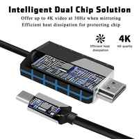 MHL USB tipo C a HDMI 1080P Cable de TV HD adaptador para teléfonos Android para Samsung Audio Video cable