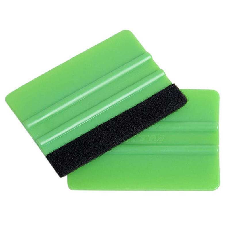 Car Scraper Carbon Fiber Window Ice Water Remover Cleaning Tools  Wash Car With Felt Squeegee Tool Film Wrapping Car Accessories