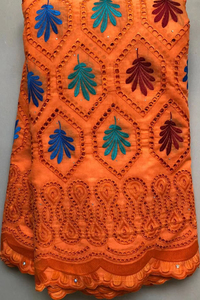 Image 5 - Pure Cotton Design Swiss Voile Lace In Switzerland With Stones African Dry Lace Fabric High Quality Nigerian For Wedding HLL4570