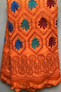 Image 5 - Saf pamuk tasarım İsviçre isviçre vual dantel taşlar ile afrika kuru dantel kumaş yüksek kaliteli nijeryalı düğün için HLL4570