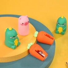 Pencil Sharpener Stationery Carrot Mini Creative Dinosaur And Cartoon 1pc Hand-Turned