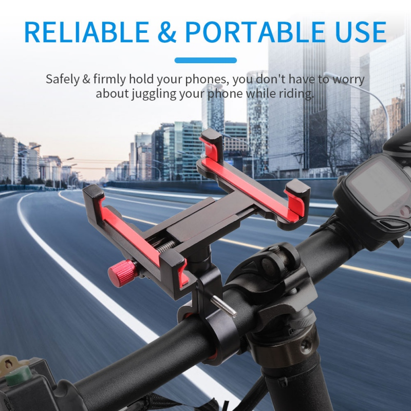 New Bicycle & Motocycle Phone Mount Bike Phone Holder With 360 Degree Rotation For All 4 To 6.5 Inch Phones and Tablet