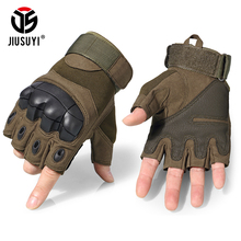 Tactical Gloves Military Armed Combat Fingerless Airsoft Outdoor Shooting Paintball Workout Carbon Knuckle Half Finger