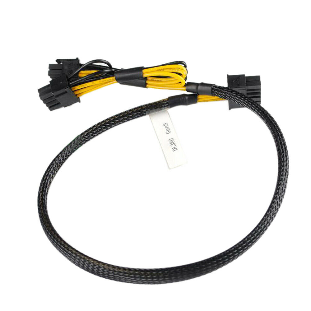 New 10pin To 6+8pin GPU Video Card Power Adapter Cable For HP DL380 G7 Gen7 50CM Free Shipping