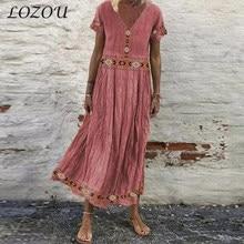 Summer Fashion Bohemian Short Sleeve Women V-neck Vintage Splicing Printed Sundress Beach Long Dresses New Pullover Maternity