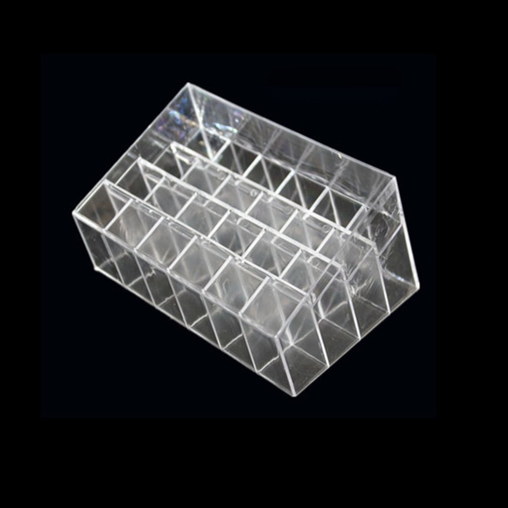 24 Grids Lipstick Holder Makeup Lipstick Display Stand Storage Rack Makeup Organizer Acrylic Storage Box