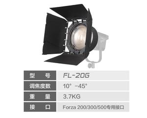 Image 1 - Nanguang NANLITE FL 20G 20G פרנל עדשה עם barndoor נקודה למבול מתכוונן עבור NANLITE 200W 300W 200 300 צילום אור