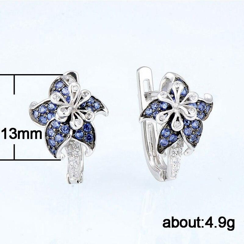 Women Earrings Sexy Luxury Mandala Shape Zircon Earrings Silver Fashionable Lady Jewellery Accessories Girlfriend Holiday Gift